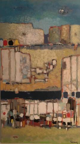 Abdelkader GUERMAZ [algérien] (1919-1996) : Plage de rêve. Huile