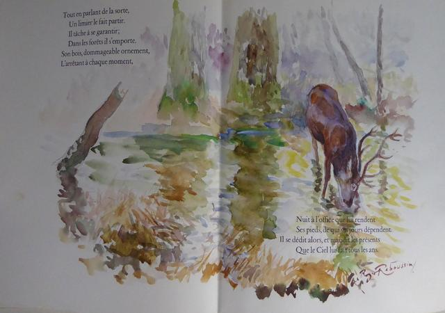 LA FONTAINE (Jean de): Vingt fables illustrées à la main par Roger