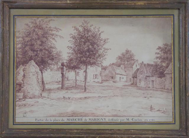 Charles-Nicolas COCHIN (1715-1790)  Vue de la place du marché de
