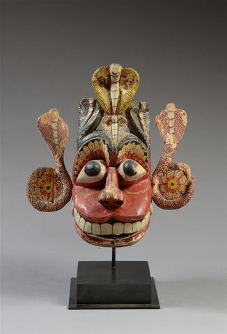 Masque d'exorcisme « Tovil », Naga-rassaya, Sud de Sri Lanka Bois,