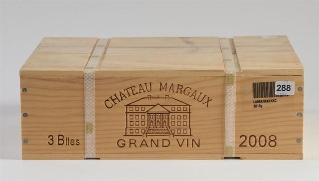3 btles - MARGAUX - Châteaux Margaux - GCC1 - 2008 CBO