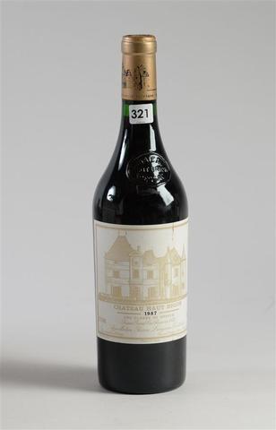 1 btle - PESSAC LEOGNAN - Château Haut Brion - GCC1 - 1987 ETLT