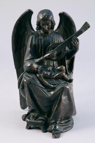James PRADIER (Genève, 1790 - Pradier, 1852), Ange-gardien au luth.