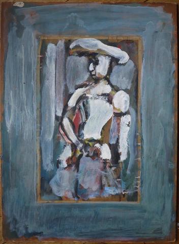 """ROUAULT Georges (1871 - 1958). """"Profil de femme au chapeau, vers 1915"""","""