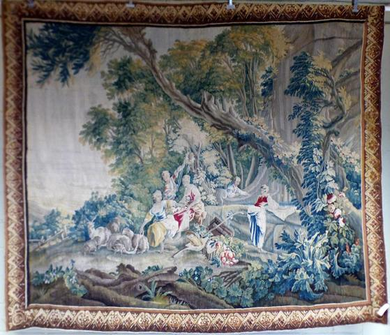 Tapisserie en laine et soie de la Manufacture d'Aubusson, époque