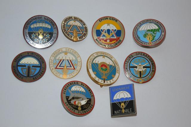 Insignes Gendarmerie, parachutiste.  10x