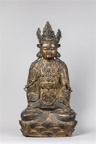 CHINE - Epoque MING  (1368 - 1644), XVIe siècle - Importante statue