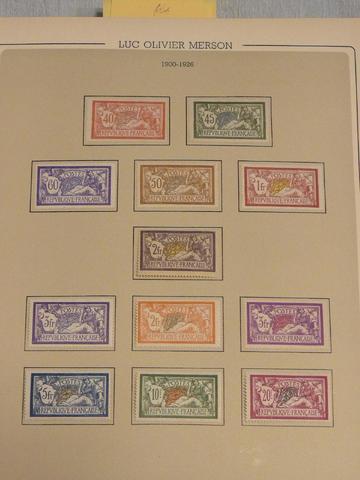 FRANCE Emission 1900/1949 : Collection de timbres neufs, de trés