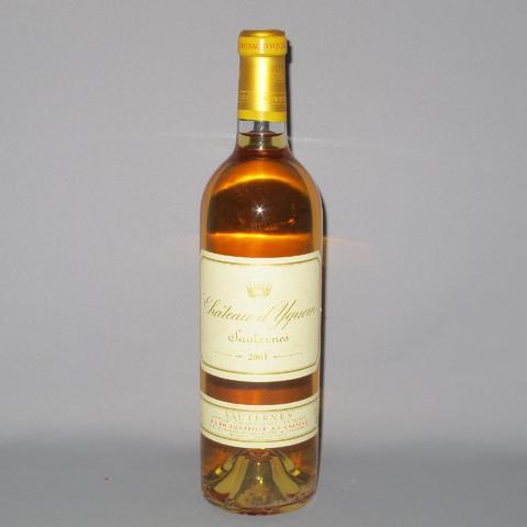 Château YQUEM Sauternes de 2001 (1 bout)