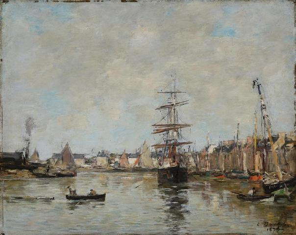 Eugène BOUDIN (1824-1898) Le Port de Trouville - 1879 Huile sur