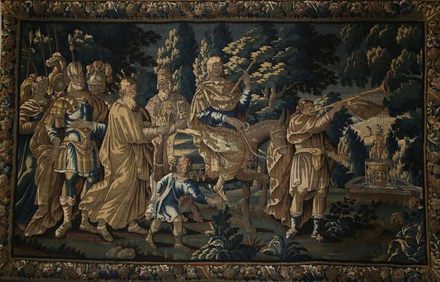 AUBUSSON XVIIIème Siècle GRANDE TAPISSERIE à décor de Triomphe