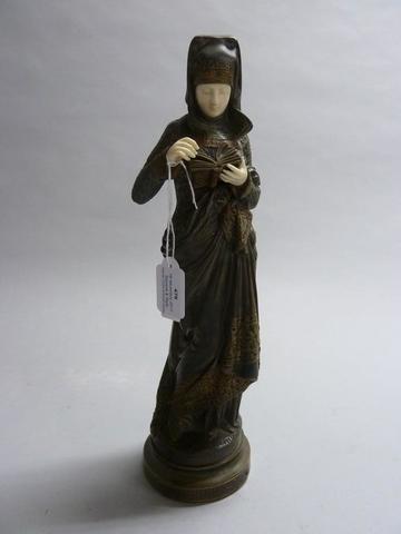 Albert Ernest CARRIER DE BELLEUSE (1824-1887) La Liseuse Bronze