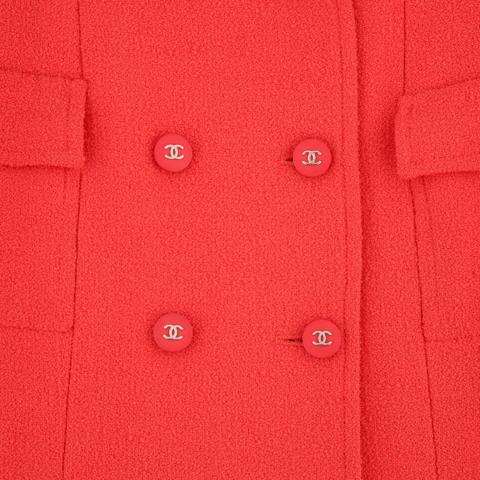 CHANEL Boutique Collection Printemps/Eté 1996 Veste longue en lainage