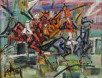 Gen PAUL (1895-1975) Les Cavaliers Huile sur toile Signée en bas