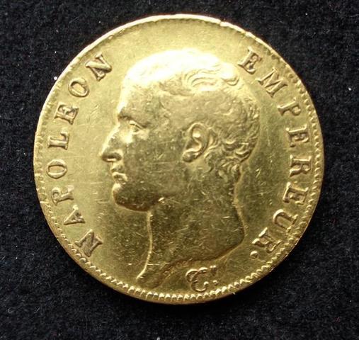 Piece de monnaie en OR  de 40 FRANCS NAPOLEON 1er 1806A