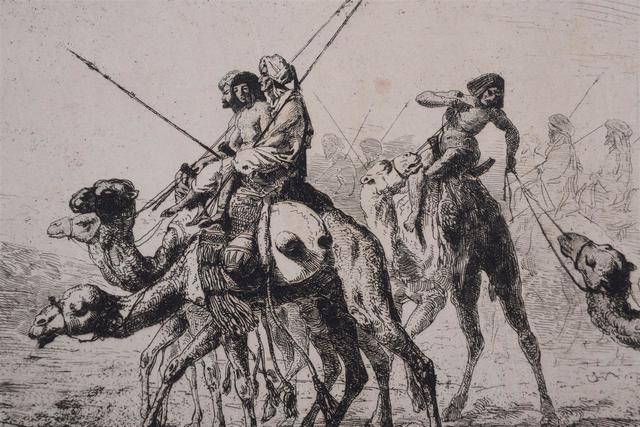 MARILHAT Prosper Georges Antoine (1811-1847): Gravure orientaliste