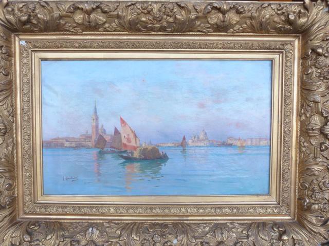 "GARIBALDI Joseph (1863-1941) : ""Venise la baie avec la Salute en second"