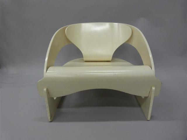 Rare fauteuil en lamellé collé designer Joe Colombo modèle 4801