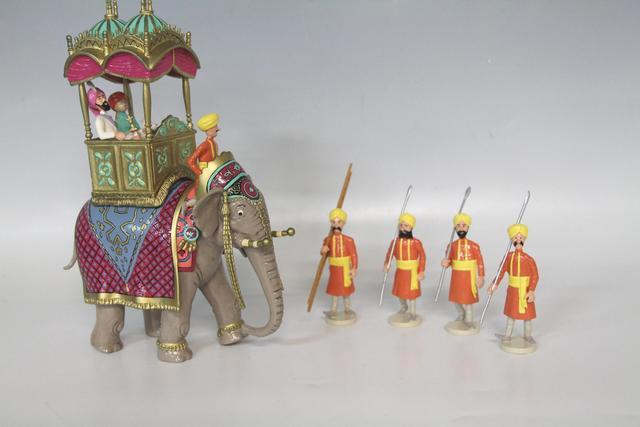 "HERGE MOULINSART. ""Scène Triomphale - Elephant Altesse"". Tirée des"
