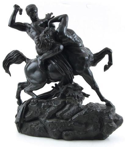 Antoine-Louis BARYE (1795-1894). Thésée combattant le centaure Biénor.
