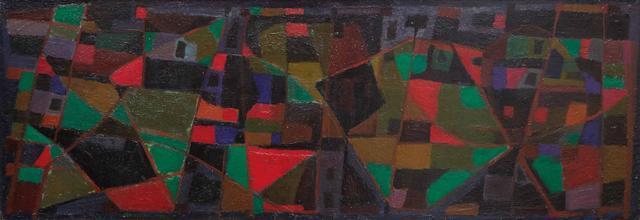 Alfred MANESSIER (1911-1993) Fin octobre, 1948 Huile sur panneau