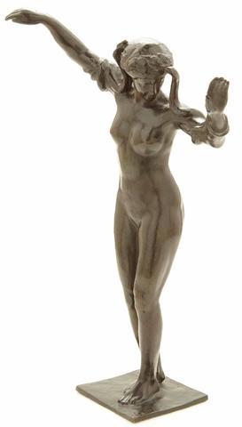 Paul LANDOWSKI (1875-1961) La charmeuse aux serpents, circa 1930 Sculpture