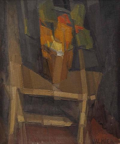 Georges VALMIER (1885-1937) Nature morte sur une table, 1911 Huile