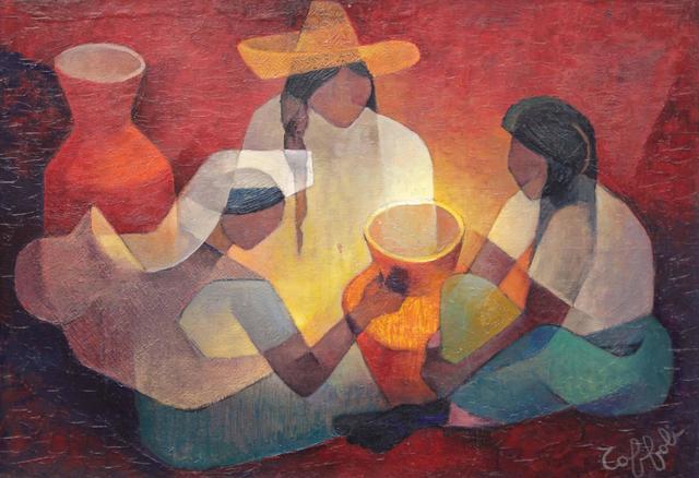 Louis TOFFOLI (1907-1999) Le Bivouac, 1964 Huile sur toile, signée