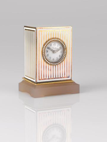 2527- CARTIER No. 1202. Vers 1910. Pendulette miniature appelée «