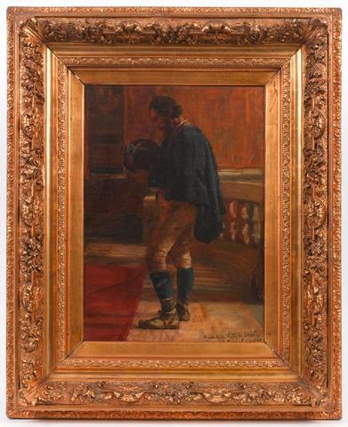 Rémy Cogghe (1854-1935). Messe de Pâques à San Carlo de Rome, détail
