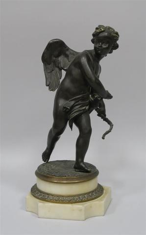 """Simon Louis BOIZOT (1743-1809) d'après """"Cupidon"""" Bronze à patine"""